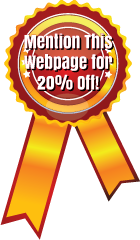 Mention This Webpage for 20 % Off!