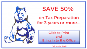 Blue Bear Tax Coupon: Save 50% on Tax Preparation for 3 years