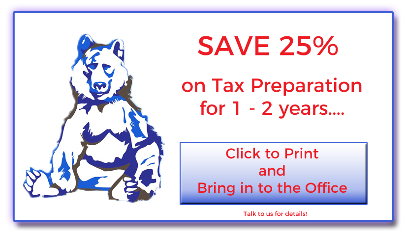 Save 25% on Tax Preparation!